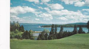 Baddeck Harbour, Lighthouse, Cape Breton, Nova Scotia, Canada, 1940-1960s