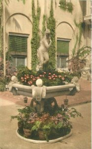 Albertype 1920s Whitehall Hotel Patio Palm Beach Florida Postcard 6998