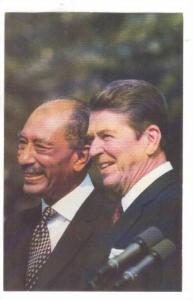 President Reagan Met With Egyptian President Anwar Sadat, Middle East Peace, ...