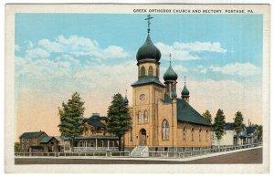 Portage, Pa, Greek Orthodox Church And Rectory