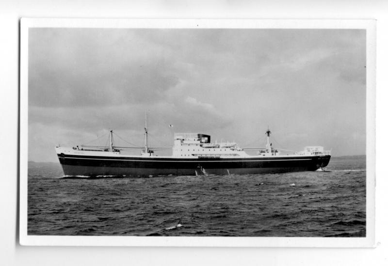 cb0787 - Ropner Line Cargo Ship - Deerpool , built 1950 - postcard
