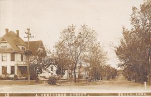 Essex Iowa~Residence Street~Nice Big Homes on Dirt Road~Real Photo~1911 RPPC
