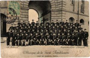 CPA PARIS Musique de la Garde Républiquaine Chef PARES (305379)