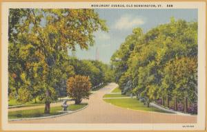 Bennington Vermont - Monument Avenue - 1940