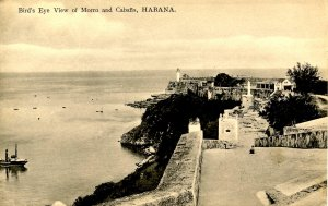 Cuba - Havana. Bird's Eye View of Cabanas & Morro