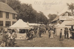 RP: SPRINGFIELD , Vermont , 1913 ; Edison Phonograph Booth at Fair