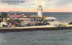 Miami Beach FL~Lighthouse Restaurant on the Ocean~Frog Legs~Pompano~Linen 1940s