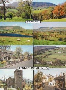 Pendleside Villages Pendle Hill Lancashire 2x Postcard s