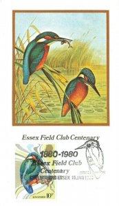 Havering Commemorative Postcard FDC Birds Essex Field Club Centenary 1980 KI8