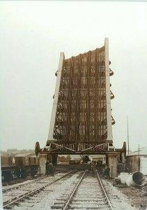 New Railway Postcard Installation of The Bascule Bridge at Carmarthen Wales