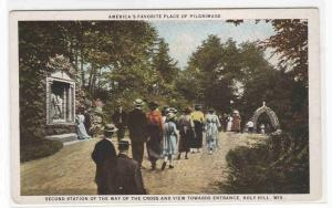 Pilgrims Second Station Pilgrimage Holy Hill Wisconsin 1920s postcard