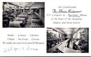 Maine Portland The Blaine Restaurant