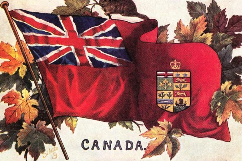 Canada Red Ensign Flag 1908 Repro Postcard