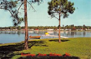 Deltona Florida Waterfront Beach Vintage Postcard K48107
