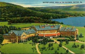 Pennsylvania Skytop The Skytop Lodge High In The Pocono Mountains 1950
