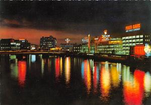 Philippines Old Vintage Antique Post Card Pasig River at Night Unused