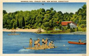 CT - New Britain. Stanley Park, Swimming Pool