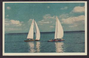 Sailboats Postcard BIN