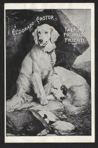 VICTORIAN TRADE CARD Eldorado Castor Oil Two Dogs