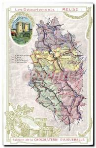 Old Postcard geographical maps of Chocolaterie & # 39Aiguebelle Meuse Gate Ch...