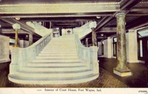 COURT HOUSE INTERIOR FORT WAYNE, IN 1909
