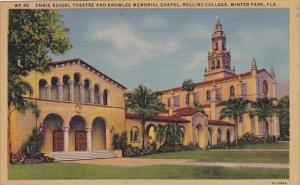 Florida Winter Park Annie Russel Theatre And Knowles Memorial Chapel Rollins ...