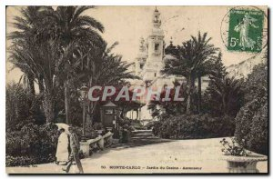Old Postcard Monte Carlo Casino Garden Lift