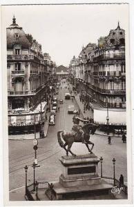 France Orleans Rue de la Republique et Statue de Sainte Jeanne d'Arc Real Photo