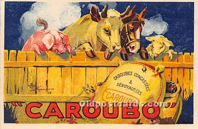 Advertising Postcard - Old Vintage Antique  Caroubo