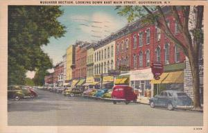 New York Gouverneur Business Section Looking Down East Main Street 1952