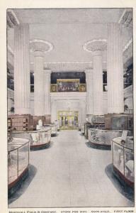 CHICAGO, Illinois, 1900-1910s; Marshall Field & Comapny, Main Aisle, First Floor