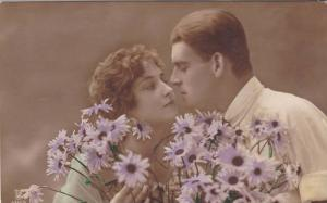 RP, Man & Woman In Love, Lilac Flowers, 1920-1940s