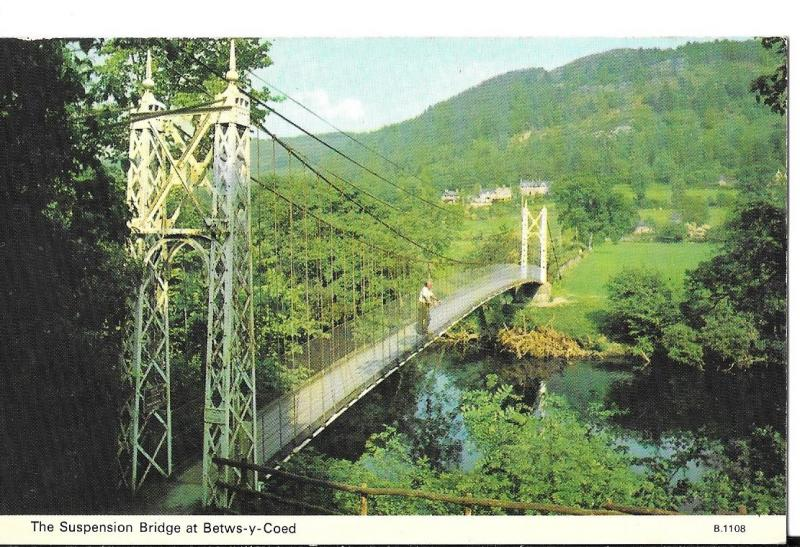 North Wales - The Suspension Bridge, Betws-y-Coed unused #072