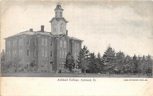 A24/ Ashland Ohio Postcard Ashland College C1910 Main Building Ottenheimer