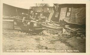 Castle Rock Minnesota Simpson Bolin Store Tornado 1926 RPPC Photo Postcard 3497