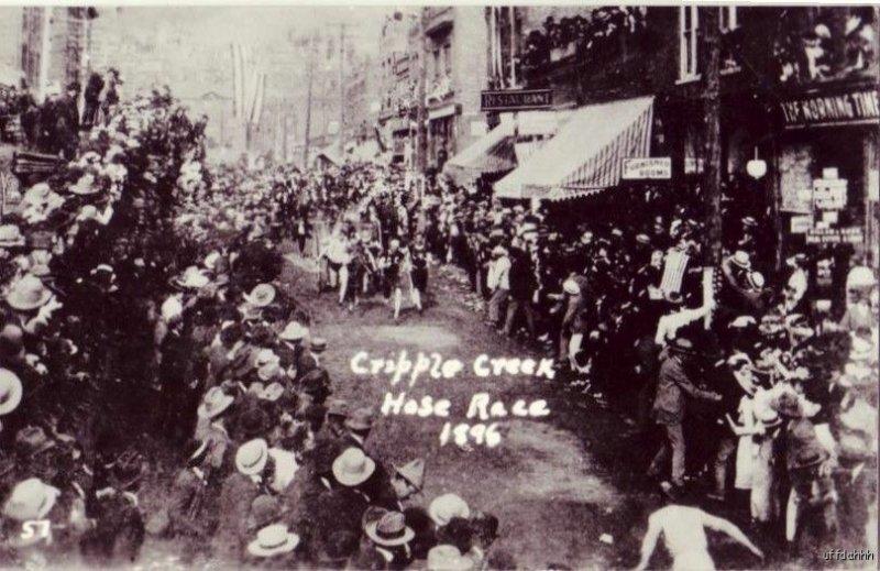 HOSE RACE CRIPPLE CREEK, CO 1896 RP