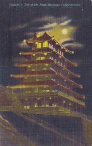 Pagoda At Top Of Mount Pennsylvania Reading Pennsylvania 1956