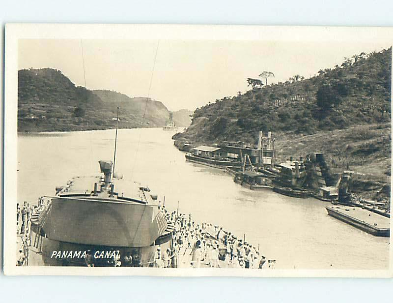 old rppc BOATS IN PANAMA CANAL country of Panama HM2079