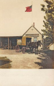 Stonham MA Alfred A. Upham Fish Dealer Horse & Wagon Hand Tinted RPPC