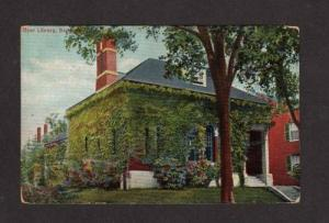 ME Dyer Library Museum Main St SACO MAINE POSTCARD PC
