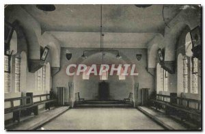 Old Postcard Clervaux Abbey St Maurice the Chapter room