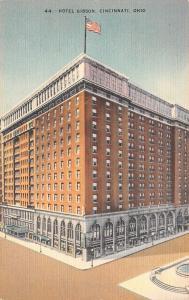 Cincinnati Ohio~Hotel Gibson~First Floor Storefronts~1930s Linen~Kraemer Art PC