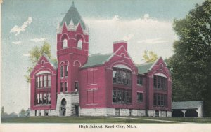 REED CITY , Michigan , 1900-10s ; High School Building