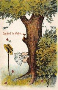 LP90 German Germany Toilet Comic Das Gluck im Winkel  Postcard