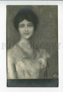 428728 Portrait Young Lady by AXENTOWICZ vintage ART NOUVEAU
