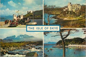 Postcard Uk Scotland Isle of Skye, Inverness-shire Ferry and castle Moil