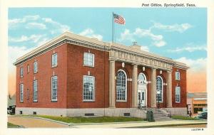 Springfield Tennessee~Post Office~1940s Postcard