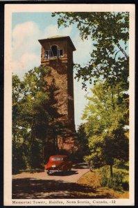 Nova Scotia ~ HALIFAX Memorial Tower with old car - pm1952 - PECO Postcard