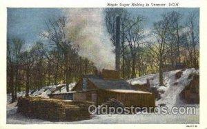 Maple Suger Vermont Farming, Farm, Farmer  Unused