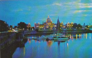 Canada Parliament Buildings from Inner Harbour Victoria British Columbia